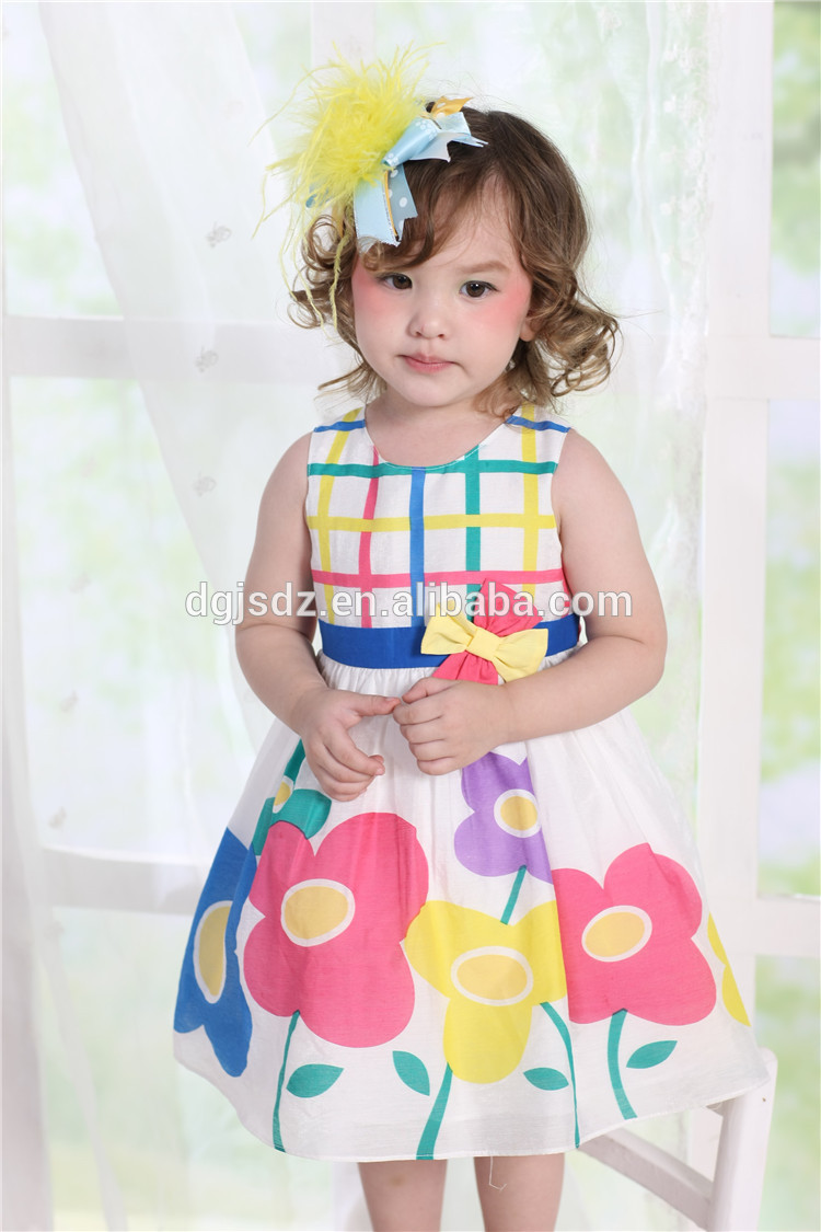 Smocked Children Clothing Wholesale Birthday Dress 2 Year Old Baby Girl Dresses