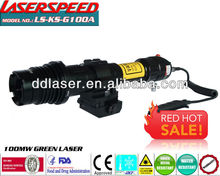 MIL-STD-1913 picatinny rail rifle green laser designator flashlight for night combat