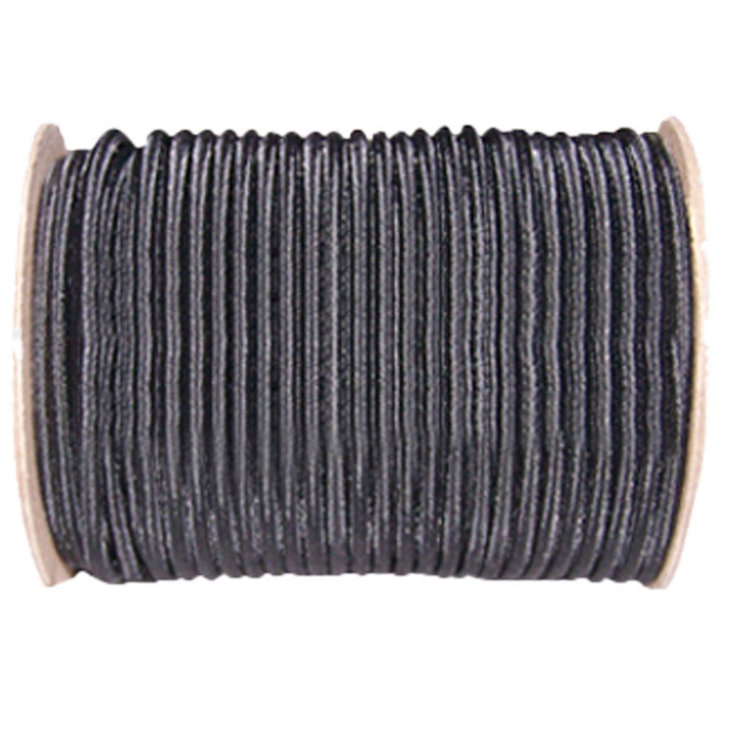 Shock Cord 1/4 inch - SGT KNOTS - Marine Grade Dacron Polyester Bungee - 100% Stretch - Moisture, UV, Weather Resistant - DIY Projects, Tie Downs, Commercial, Indoor, Outdoor (100 feet - Black)