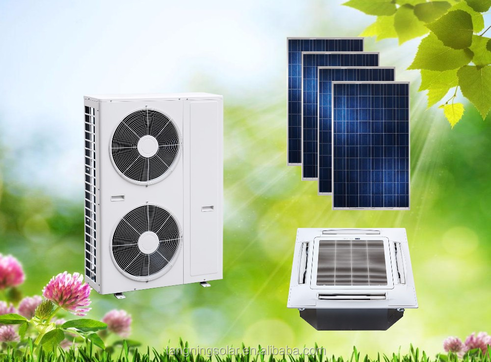 On grid ACDC Hybrid Solar Air Conditioner Cassette Type Space-saving