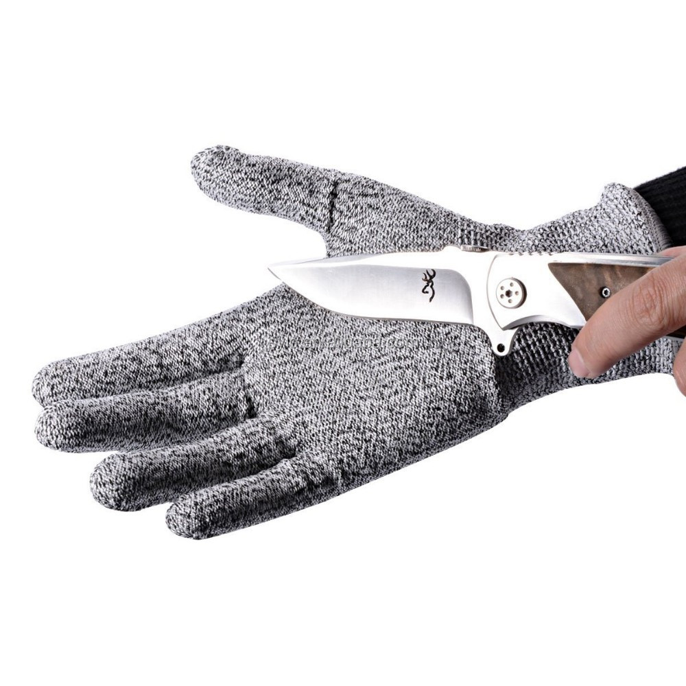 Aramid Fibre Leather Palm Cut Resistant Gloves Best Selling.
