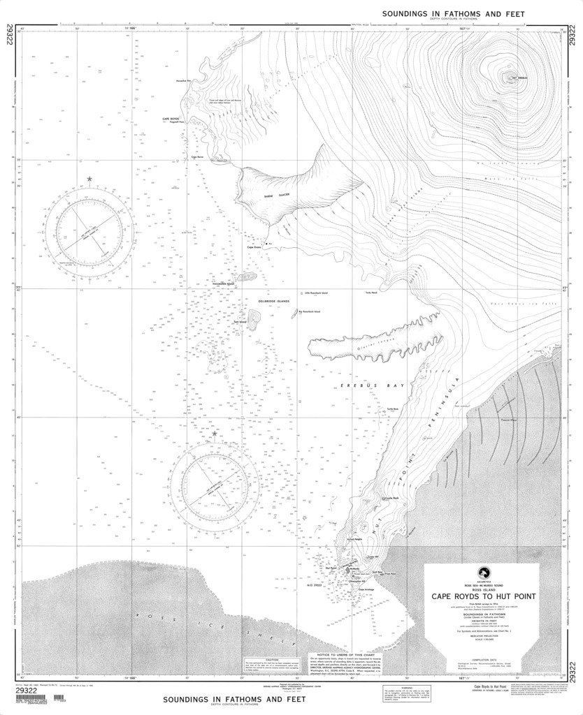 NGA Chart 29322: Cape Royds to Hut Point (Ross Island, Ross Sea-McMurdo Sound)