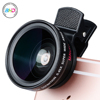 2017 New Arrival 0.45x Super wide Angle and 15X Micro Phone Lens Cell Phone Camera Lens for iPhone for Galaxy