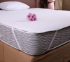 Elastic Band fitted Pongee Waterproof White Bed Sheet