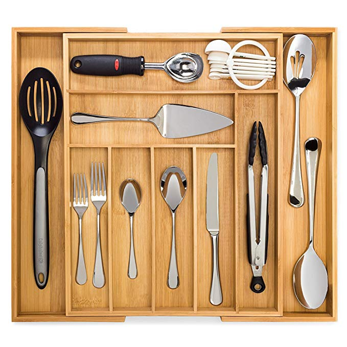 bamboo expandable drawer organizer MSL-001 Details