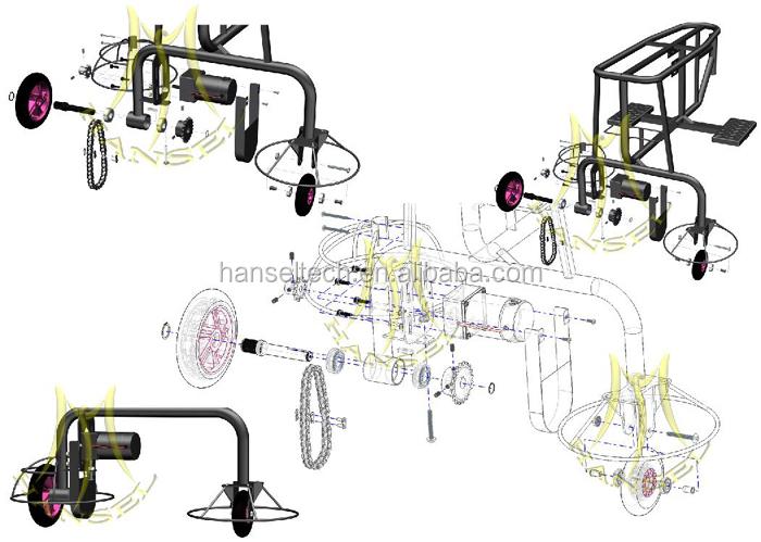 電気おもちゃの設計hanselモール用歩行動物のおもちゃ子供のための仕入れ・メーカー・工場