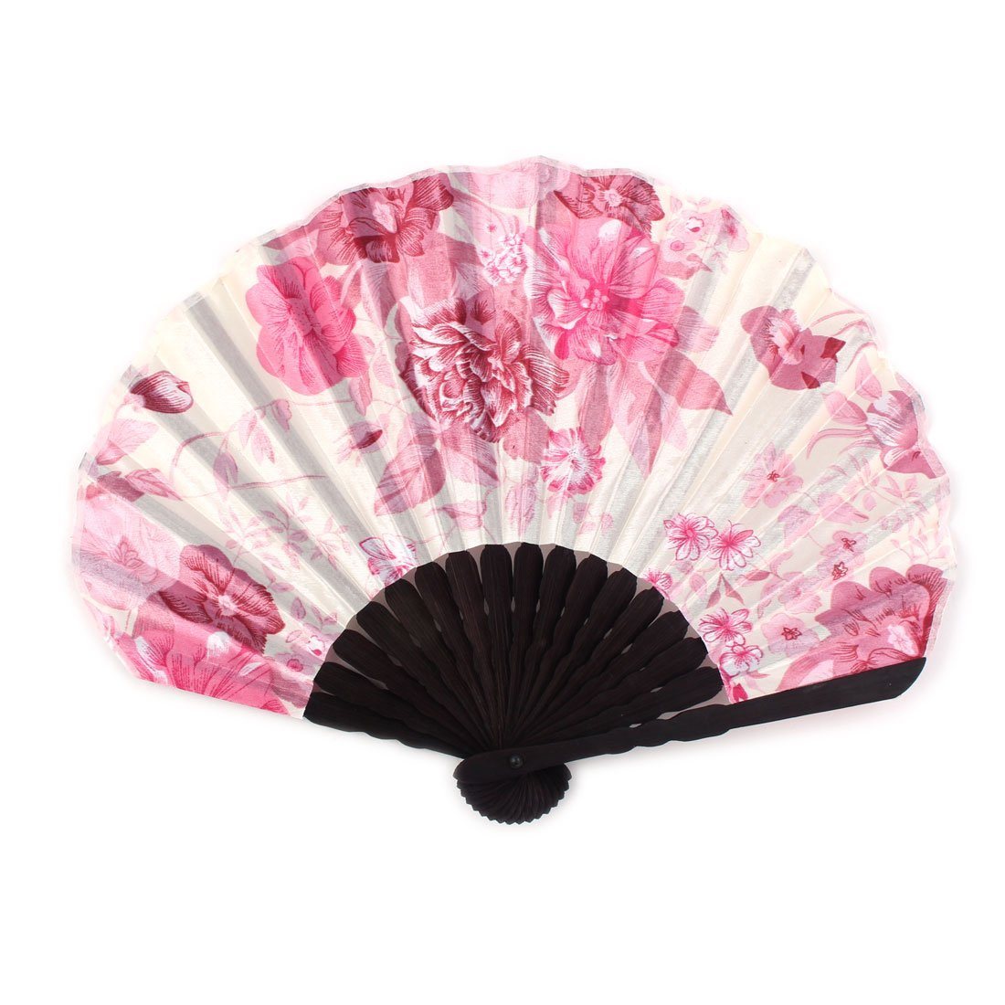 uxcell Flowering Printed Ladies Summer Hand-held Folding Dancing Hand Fan Craft