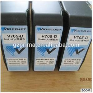 Ink for videojet v705 d,100% original high quality V705-D make up Ink Cartridge for Videojet Printer