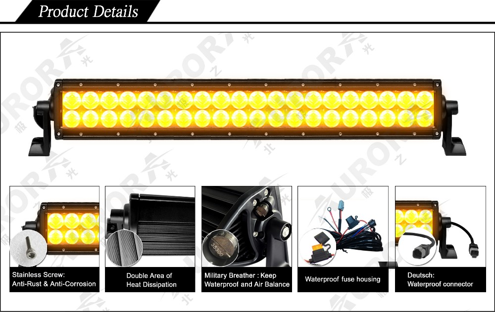 SAE Approved Led Auxiliary Driving Lights Amber Offroad Parts Fog Light