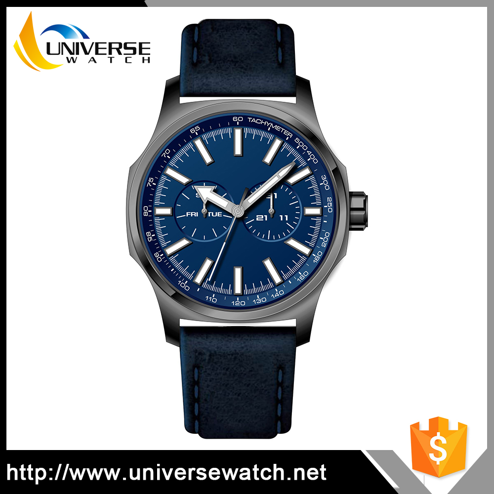 Best Price Vogue Slim Chronograph Watch with Your Own Brand Logo Engraved
