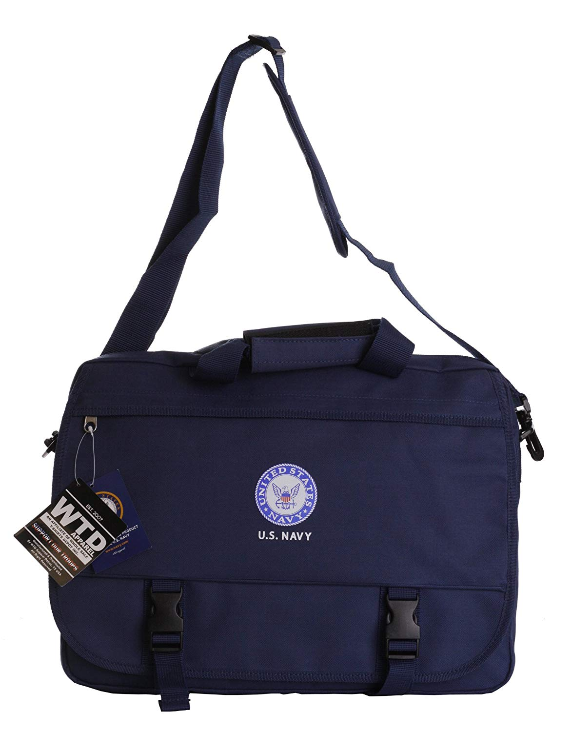US Military Official Licensed Army Navy Air Force Laptop Messenger Bag (US  Navy Blue) cf7e82a97bd