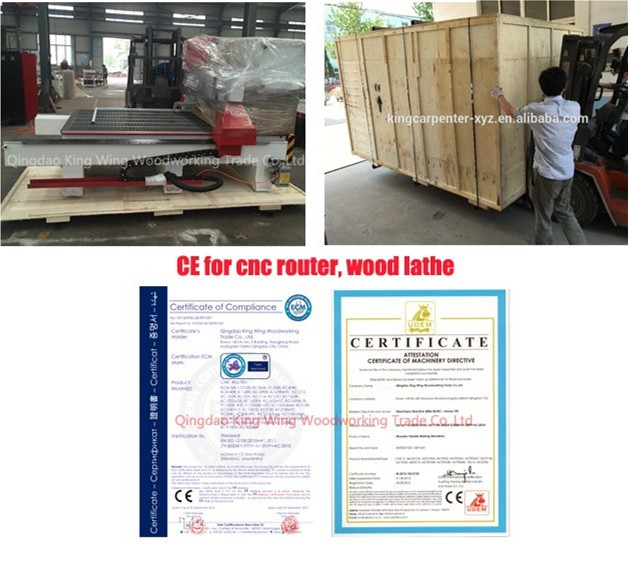wood cnc router with rotary KC1325RH cnc milling machine 4 axis with the spindle can rotary 180 degree