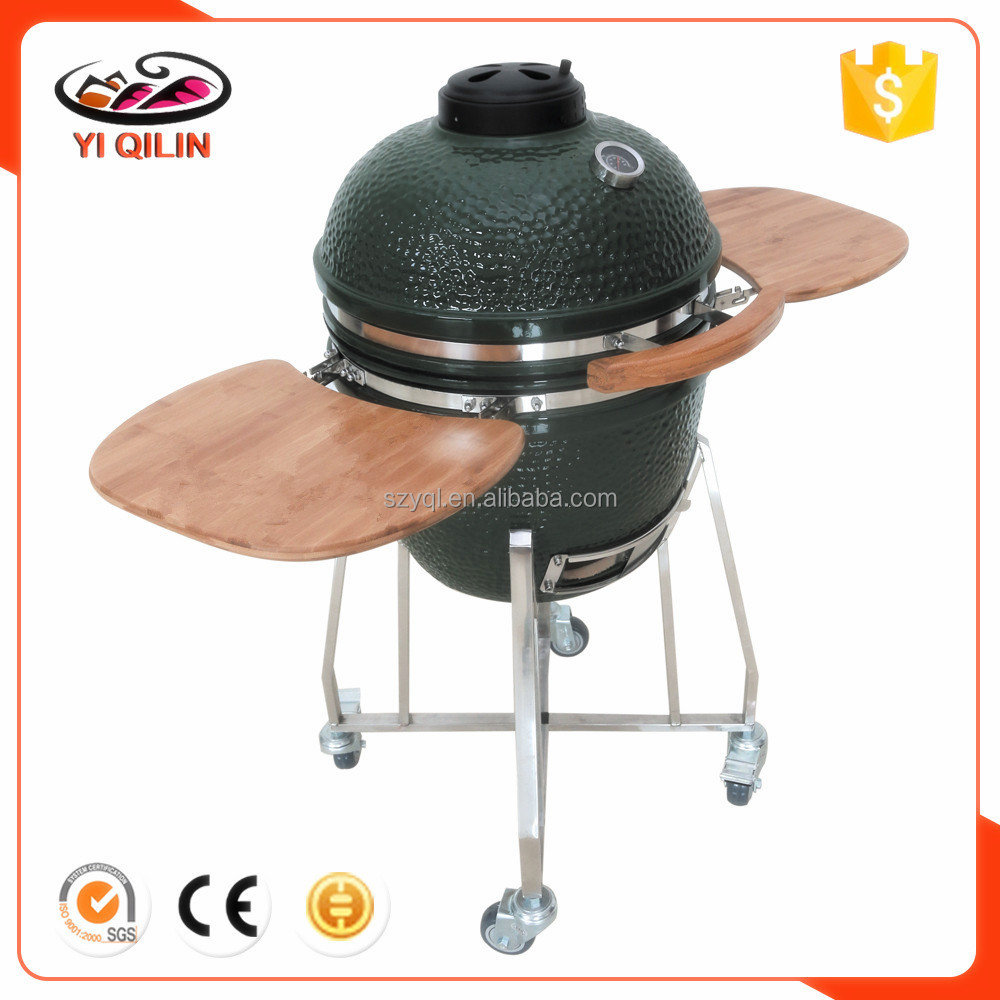 Colorfully Shiny Instant BBQ Green Kamado Grill