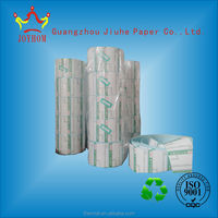 Top coated thermal adhesive label rolls thermal bar code paper