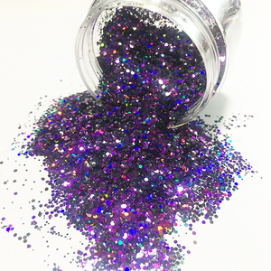 2018 hot selling polyester bulk glitter chunky mix