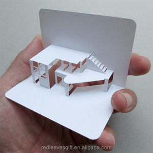 House Shaped Business Cards With Cmyk Printing