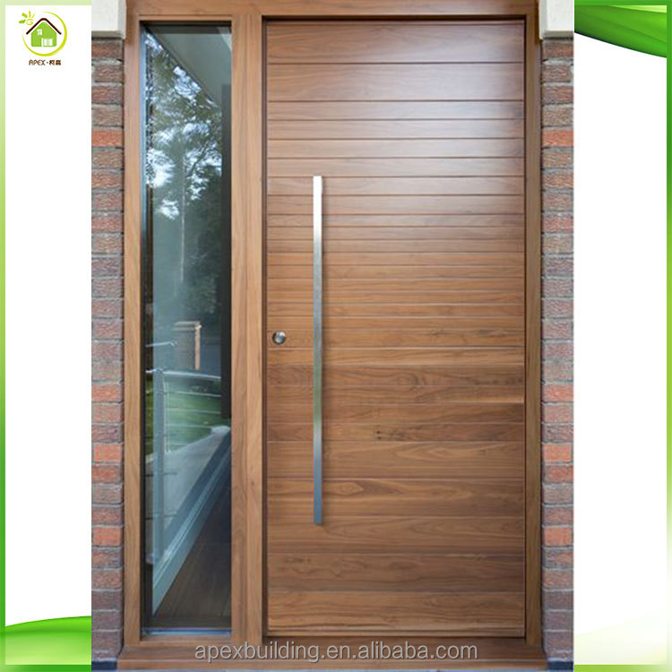 Llana moderna de madera maciza puerta principal 100 for Puerta principal madera moderna