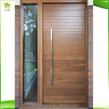 Modern Plain Solid Wood Main Door/100% Solid Oak Wood Door Models ...
