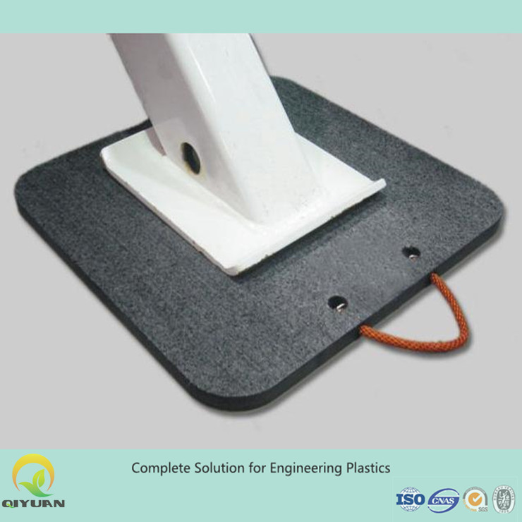 temporary roadway, trailer plate jack pads/crane leg support mat, uhmwpe plastic jack pads