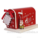 Customized red merry christmas cast iron santa mailbox