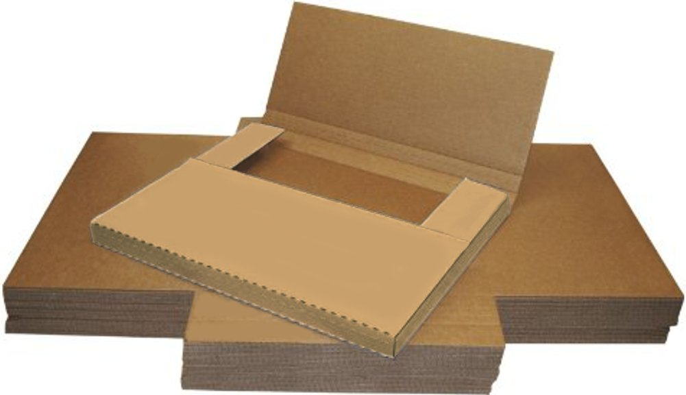 "25 Cardboard LP Sleeve Boxes - 17-1/8"" x 14-1/8"" Variable Depth Outer Sleeve Mailer & Vinyl Box Set Mailer - 12BCOW (BOXES, SHIPPING)"