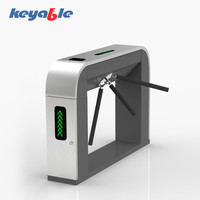 access control waist high full automatic rfid card reader security turnstile gate for factory entrance