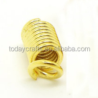 8x4mm Jewelry Findings Coil wire cable crimp Ends for Crimp Fasteners leather cord Crimp Ends