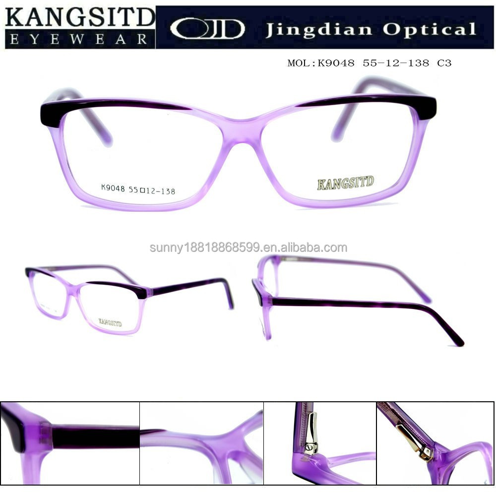 hot new products for 2015 crystal fade transparent color optical eye frame glasses 9048