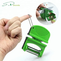 2019 New Kitchen tools stainless steel vegetable zester grater 3 in 2 design portable rotatable manual Mini Knife Sharpener