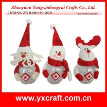 Christmas candy jar (ZY13L300-1-2-3 20CM) commercial christmas decorations gift cookie jar