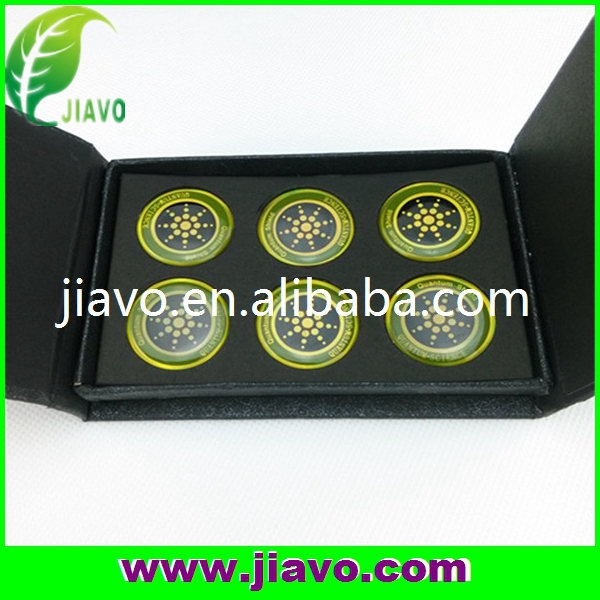 6pcs per box anti radiation sticker with golden&silver color