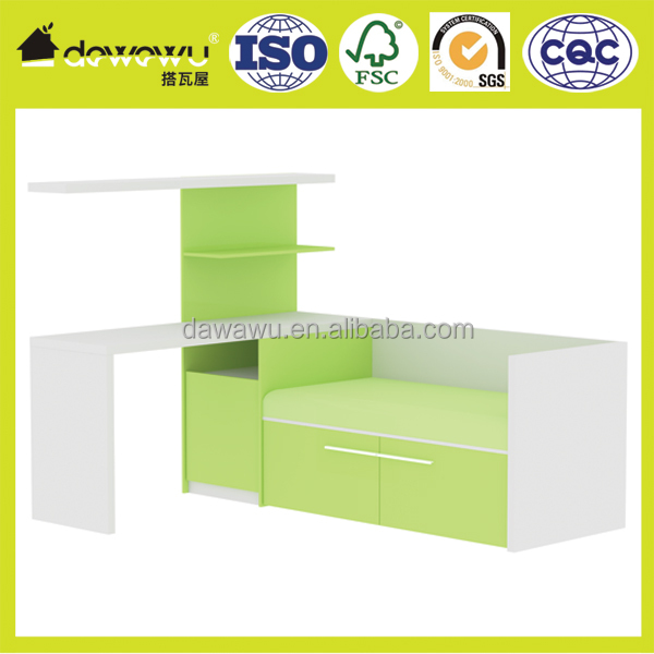 kids loft bed with desk melamine laminated bedroom furniture
