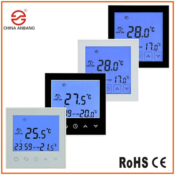 Electronic Digital Touch Screen Thermostat Heating For Underfloor Carbon Film