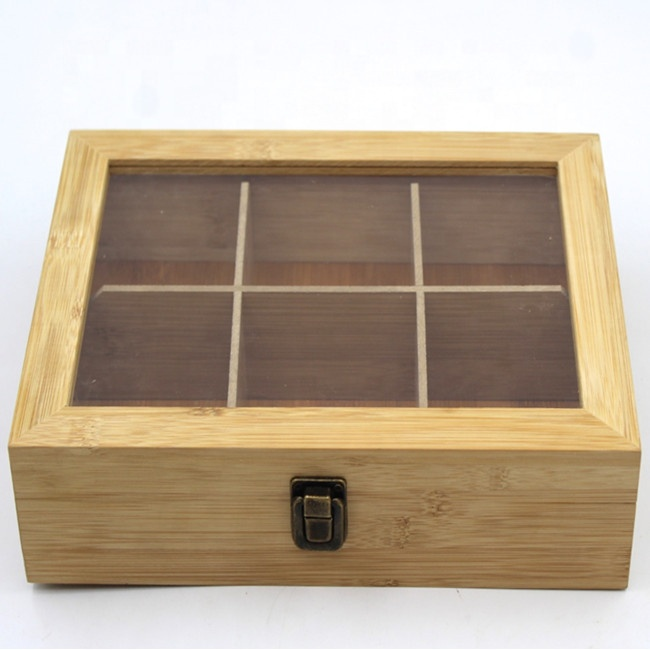 Luxury storage gift rectangle packaging bamboo wooden box