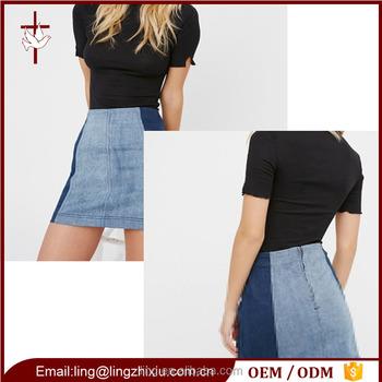 20b480c0a9 Modern Girls Denim Mini Skirt Wholesale In China - Buy Denim Skirts ...