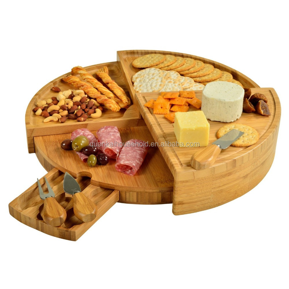 Bamboo Cheese Board and Cheese Tool Set