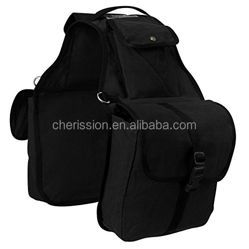 Tarpaulin PVC Waterproof Motorcycle Bag, Bicycle Bag Canvas Saddle Bag