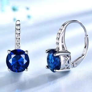 Earring Factory China Cute Rhinestone Fashionable Stud Bridal Earrings Zirconia Jewelry 925 Sterling Silver Clip Earrings