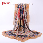 ethnic scarf flamenco shawl custom printed decorative scarves for wholesale cotton printed sarong