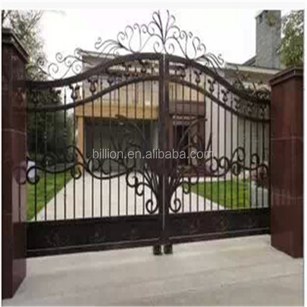 Craft Luxury Wrought Iron Big Gates Hot-dipped