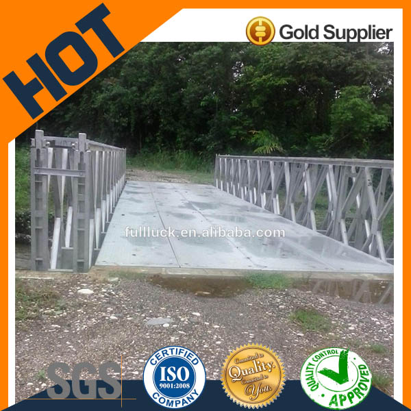 Double lanes High Quality 18m bailey bridges galvanized for vehicles passing