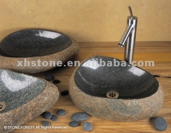 Garden Bathroom Stone Sink Wash Basin Face Carving