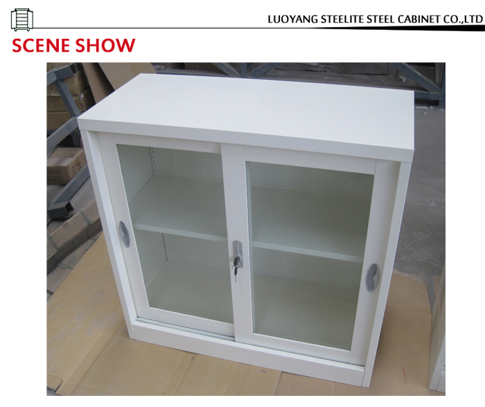 2-tier Sliding Door Small Storage Cabinet / Used Dental Lab ...