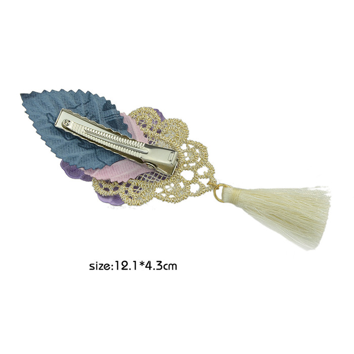 New Design Lace Flower Big Hair Clips for Women
