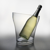 factory outside transparent acrylic wine champagne plastic ice bucket