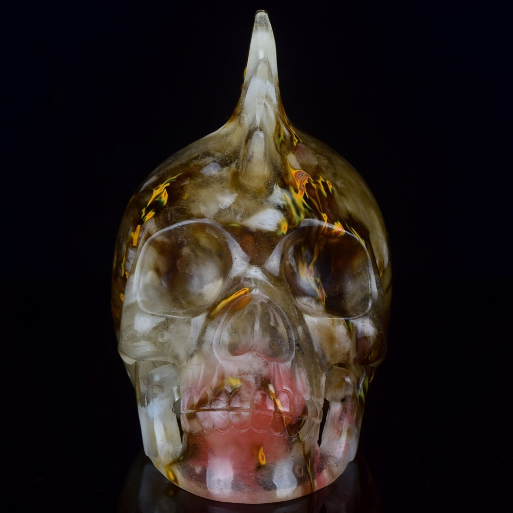 New arrive Amazing Mars design skull, 5 inch hand carved crystal skull head for decor