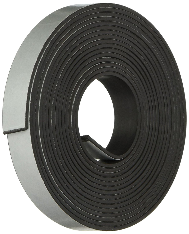 Baumgartens Magnetic Tape - 0.5amp;quot; Width x 10' Length - Magnet - Flexible - 1 Roll - Black