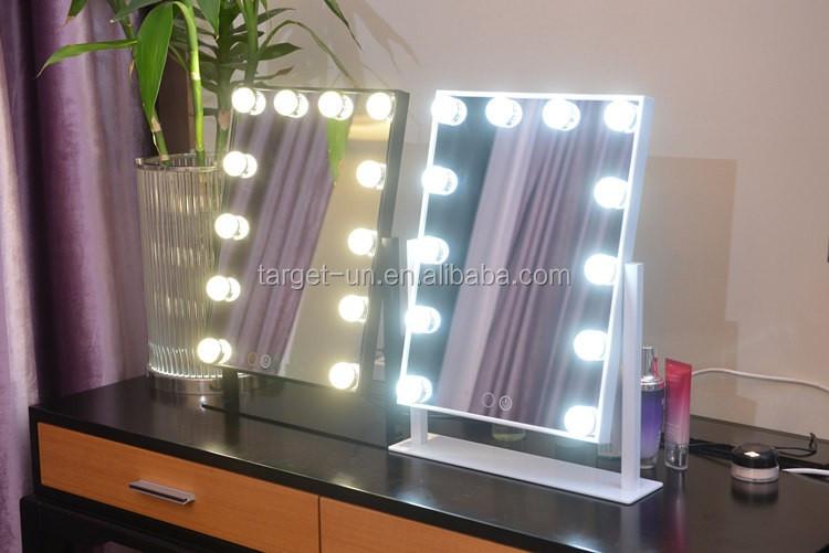 Color Blanco Impresiones Vanidad Hollywood Glam Espejo De Vanidad