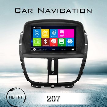 Touch Screen Car Radio Gps Tv Dvd Player For Peugeot 207 Buy Car