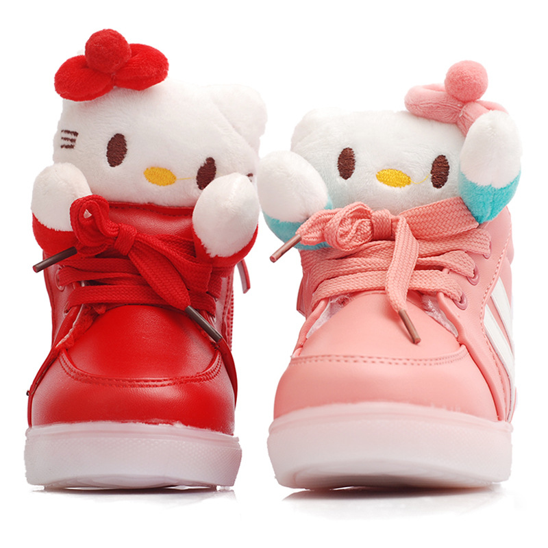 3abd34ab6506 Buy 2015 New Brand Girls Hello Kitty Cat Boot Kids Fashion Winter ...